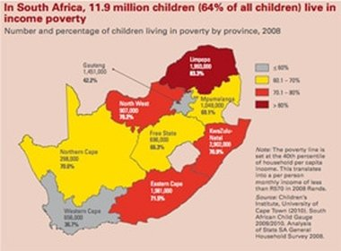 Image result for PHOTO MAP POVERTY IN SOUTH AFRICA