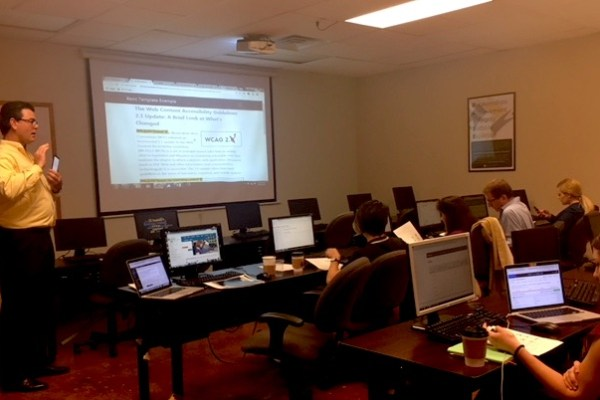 Microassist CTO delivering web accessibility training