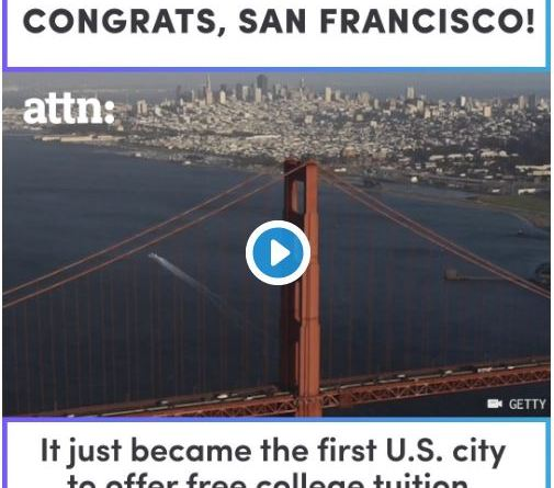 San Francisco first to offer free community college in USA.