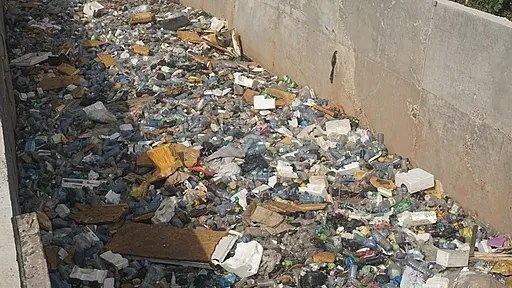 Image of waste in gutter Ghana