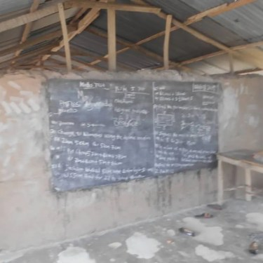 Image of primary school in a rural area named Otenkope in Ghana called Pupils of Aggressive Academy