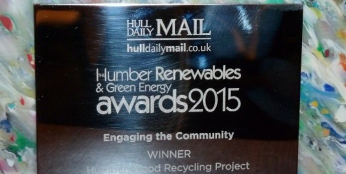 Humber Wood Recycling wins at Green Energy Awards 2015