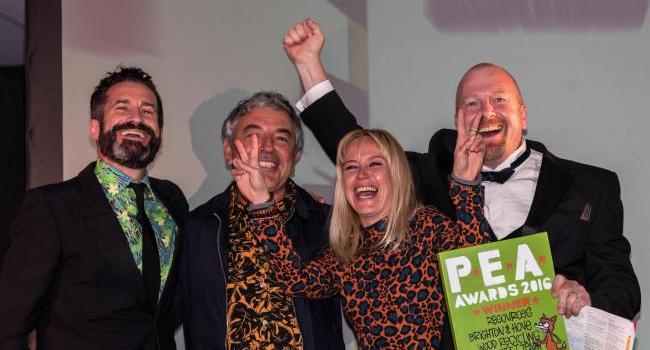 Brighton and Hove Wood Recycling Project wins P.E.A. award!