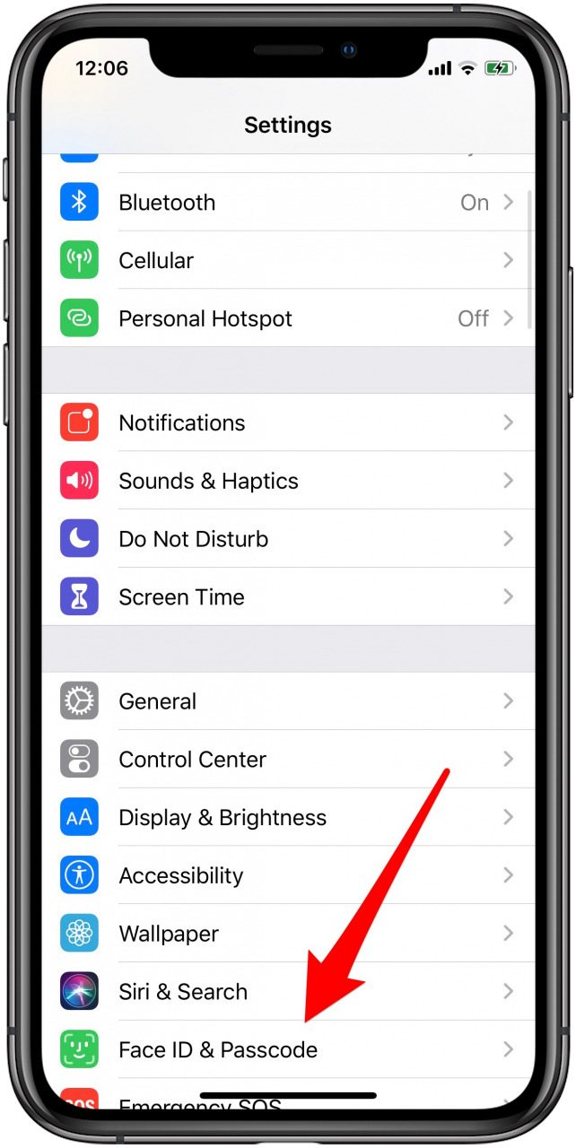 How to change the password on an iPhone