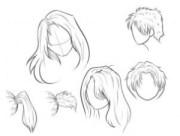 como desenhar cabelo muito cil