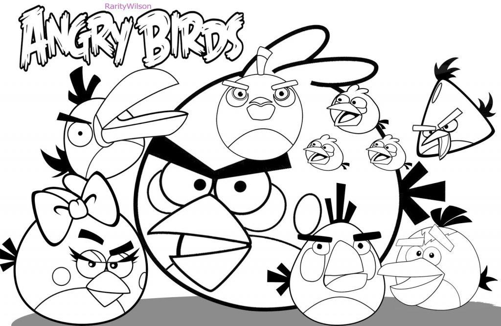 Angry Birds para Colorir e Imprimir  Muito Fcil