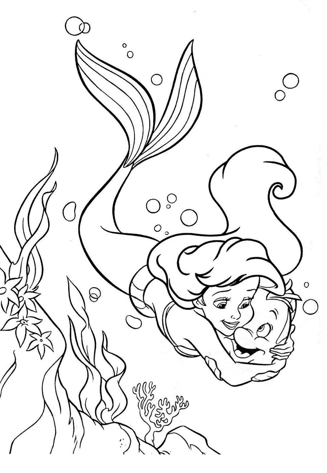 Ariel para Colorir e Imprimir Muito Fcil Colorir e Pintar