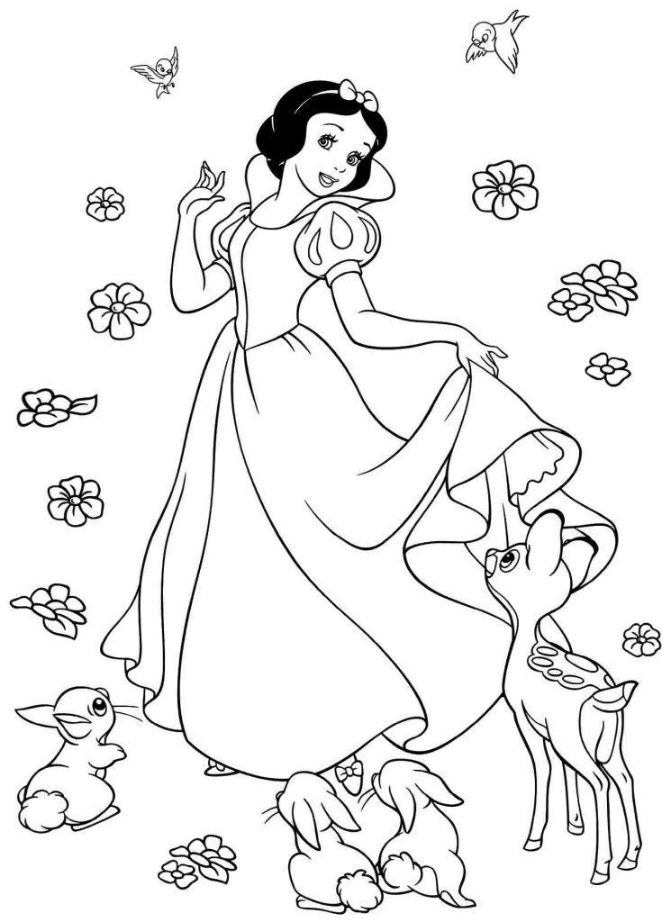 Branca de Neve para Colorir e Imprimir  Muito Fcil