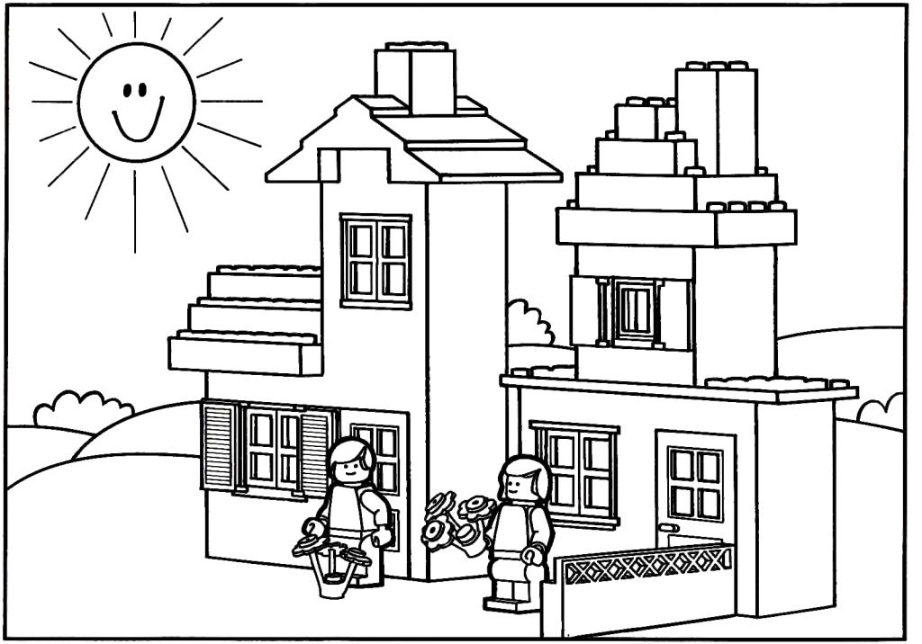 Casas para Colorir e Imprimir Muito Fcil Colorir e Pintar