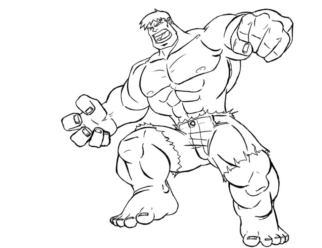 Hulk Para Colorir E Imprimir