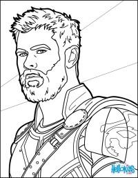 Thor para Colorir e Imprimir - Muito Fcil - Colorir e Pintar