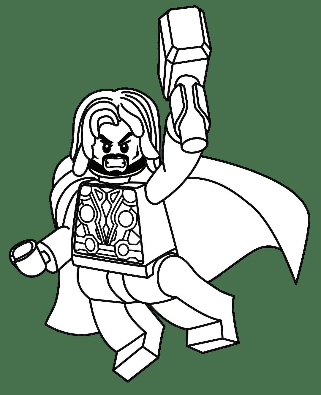 Thor para Colorir e Imprimir  Muito Fcil  Colorir e Pintar