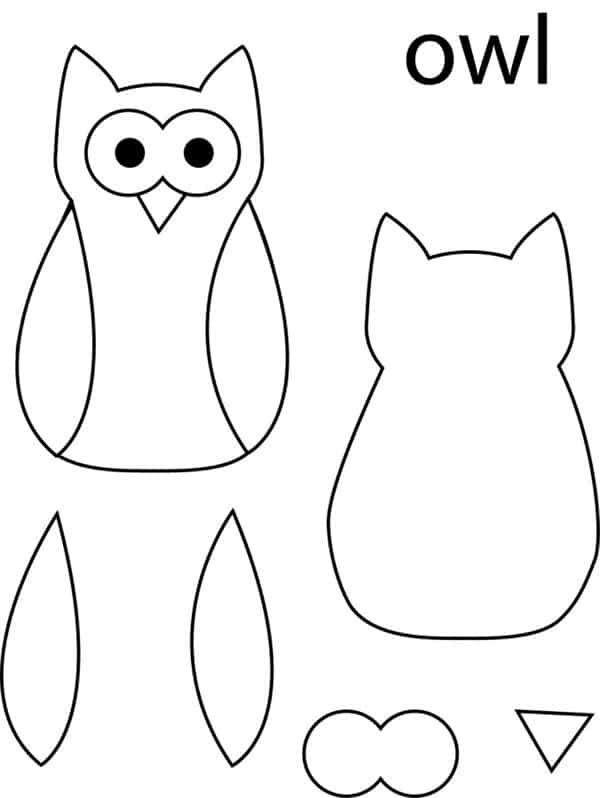 20 Desenhos De Corujas Moldes Para Imprimir