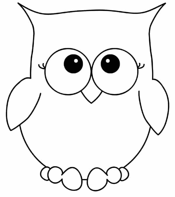 20 Desenhos de Corujas: Moldes para Imprimir