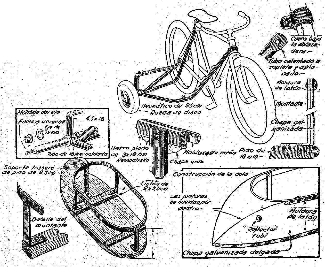 Para Bicicleta Como Hacer Con Manuales Planos Y Picture to