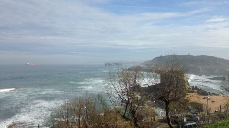 vistas del mar cantabrico desde santander playa del sardinero