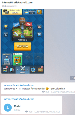 canal de telegram android full