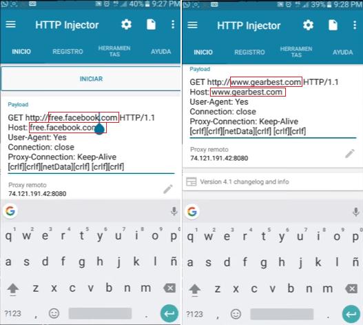 apk No se puede conectar al Host