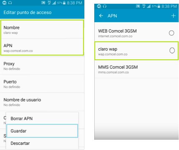 apn claro wap android como configurar apk custom vpn