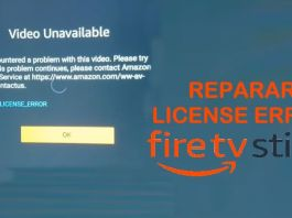 como reparar license error amazon fire stick tv 2018 falla problema
