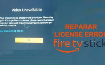 como reparar license error amazon fire stick tv 2018 falla problema
