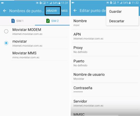 conseguir internet gratis movistar ecuador con apn