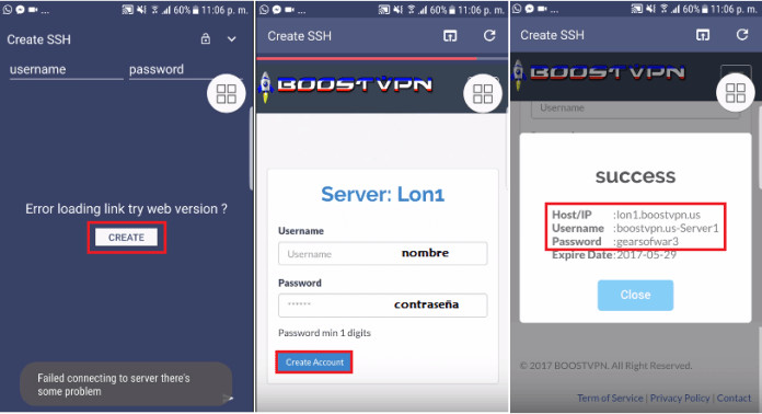 crear servidores telcel http injector con payload