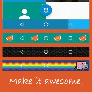 personalizar barra de navegacion en android con navbar apps apk