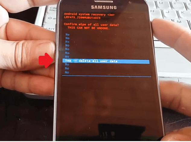 hard reset android 5 galaxy j2