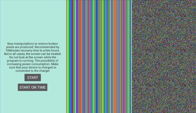 reparar pixeles muerto Dead pixel detect and fix