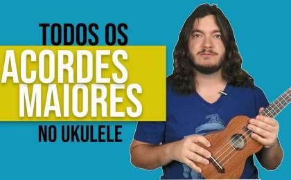 acordes maiores no ukulele
