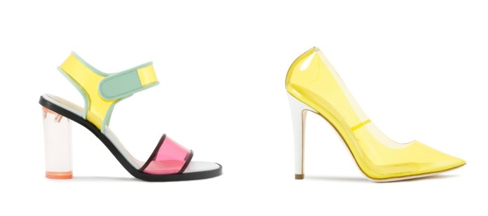 Zapatos y sandalias de vinilo