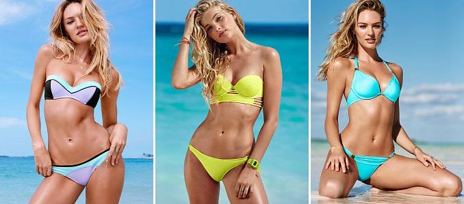 Colores neón en bikinis