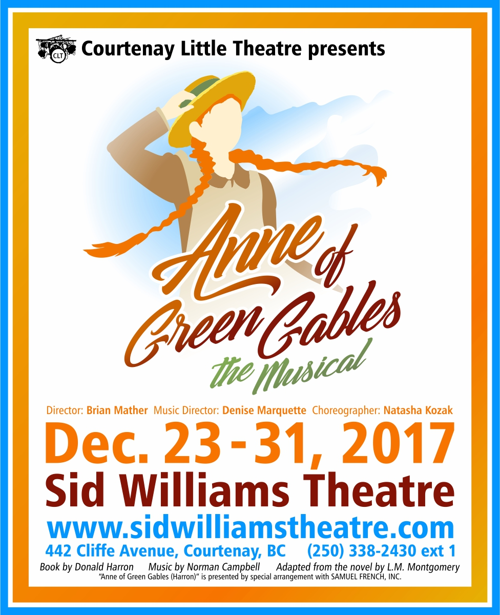 """CLT presents """"Anne of Green Gables"""" New Year's Eve Celebration following"""