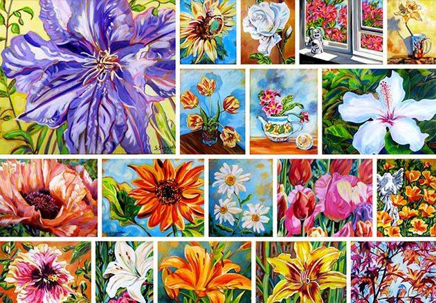 Floral Art Show by Susan Schaefer