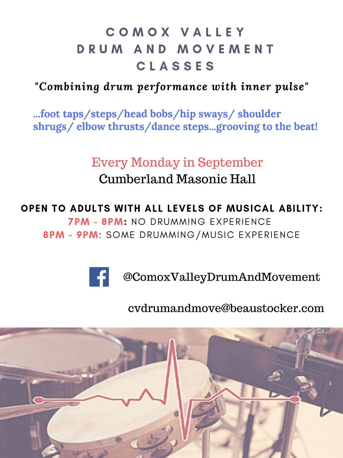 Comox Valley Drum and Movement Classes - Cumberland