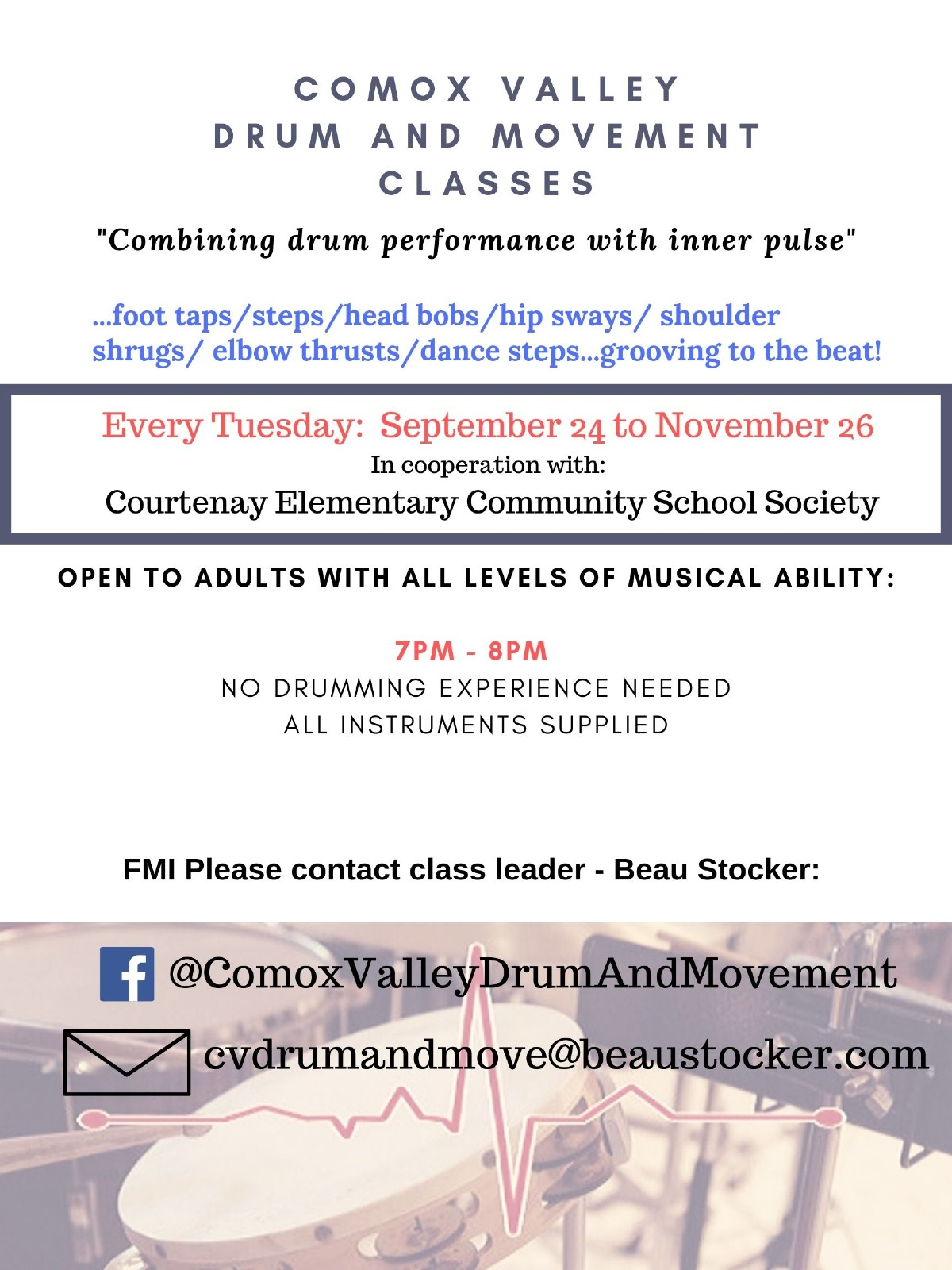 Drum and Movement Classes - Courtenay