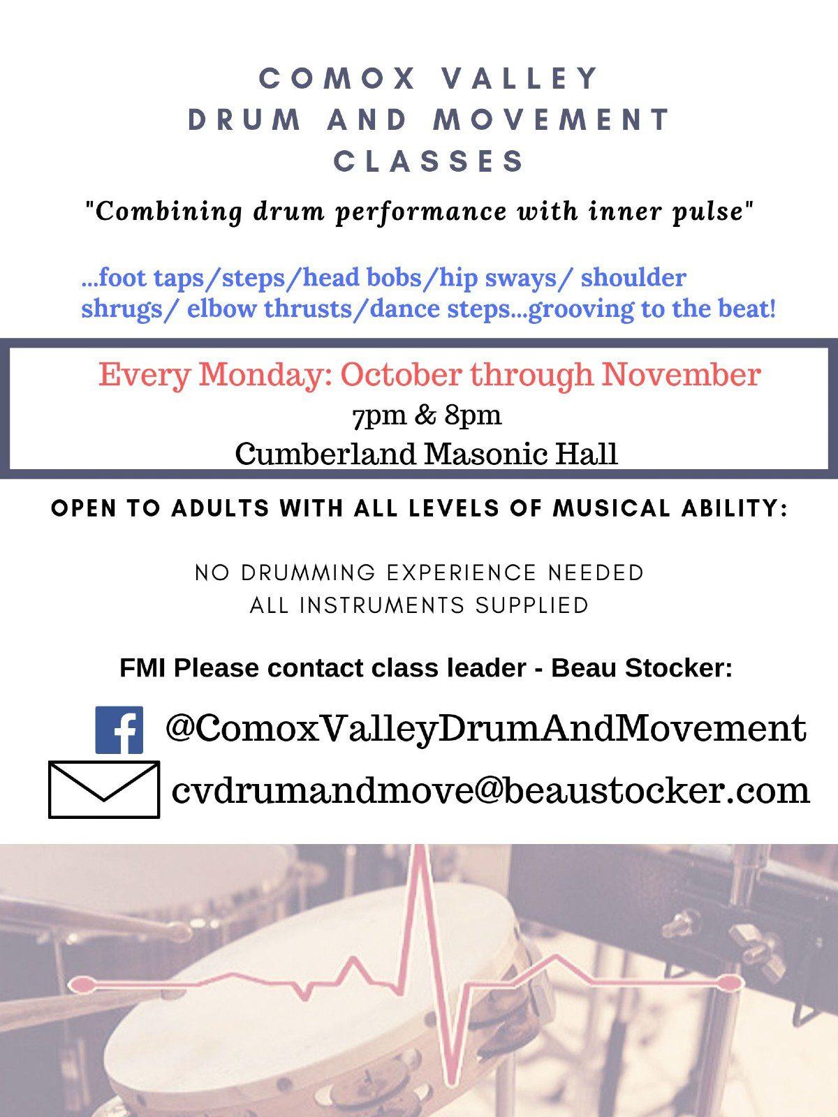 Drum and Movement Classes - Cumberland