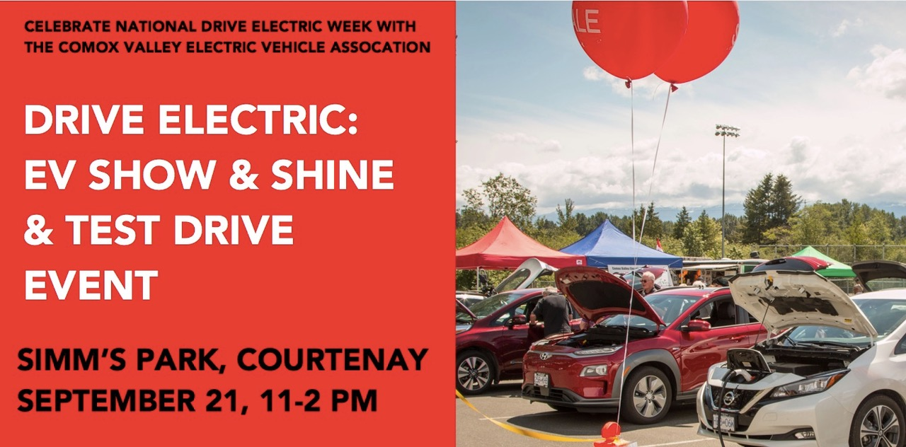 Drive Electric Comox Valley: EV Show & Shine and Test Drive Event