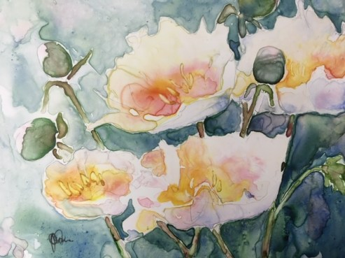 Peonies by Juanita Olson