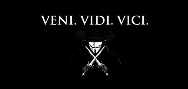 """Veni. Vidi. Vici. - """"Ich kam, Ich sah, Ich siegte"""" Foto: anonymous.kollektiv, VKontakte"""