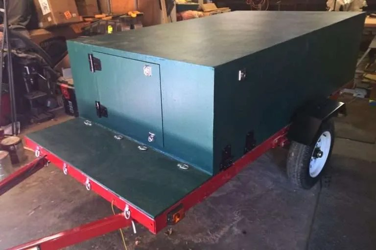 Compact Camping Trailer Extended by Customer