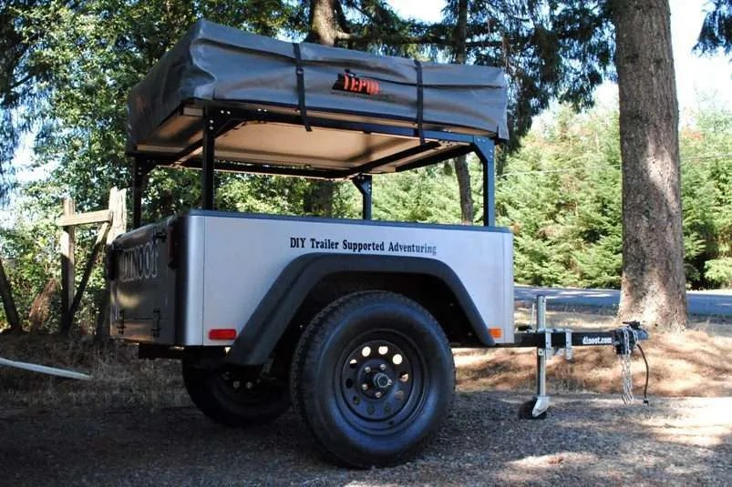 Compact Camping Trailer Rack Jeep Trailer