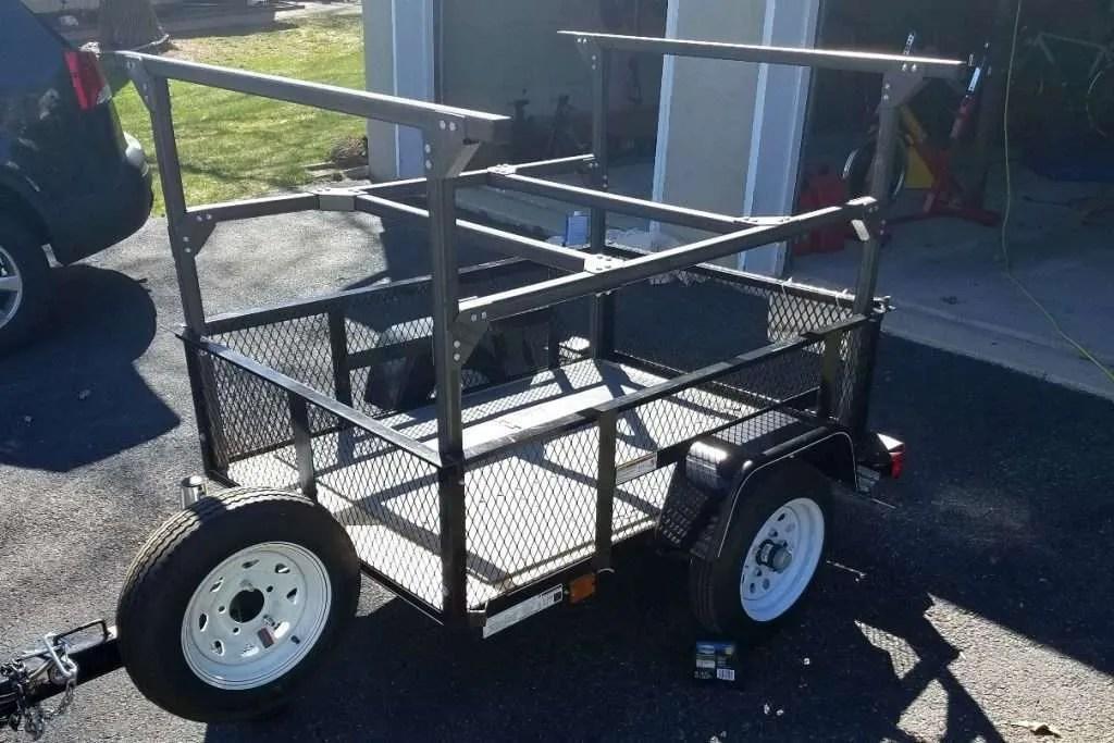 diy trailer racks compact camping