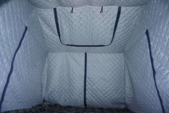 Roof Top Tent Insulator Inside