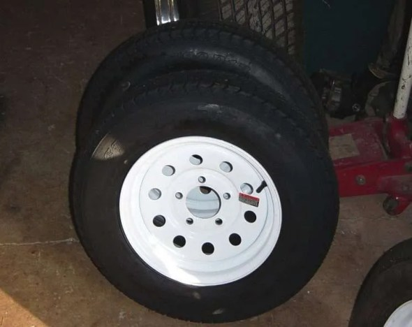 DIY Camping Trailer Tires 13""