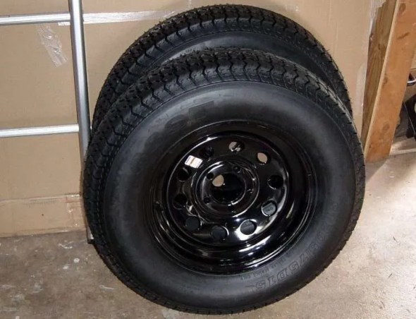 DIY Camping Trailer Tires 15""