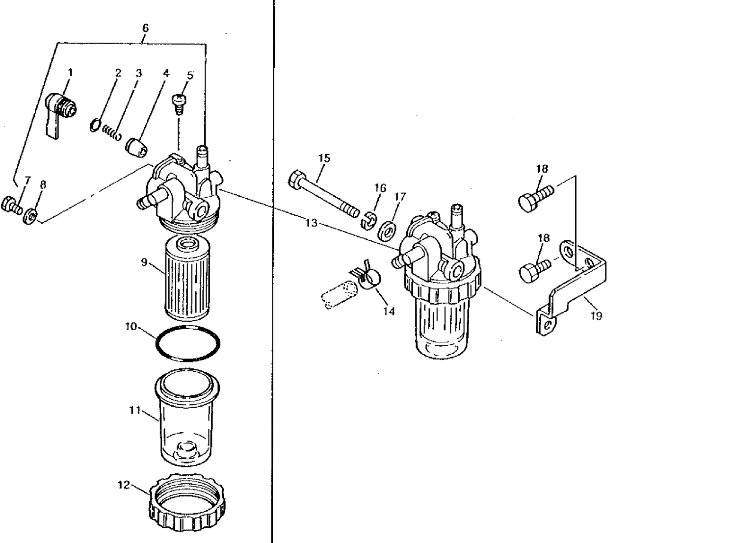 tractor fuel filter housing