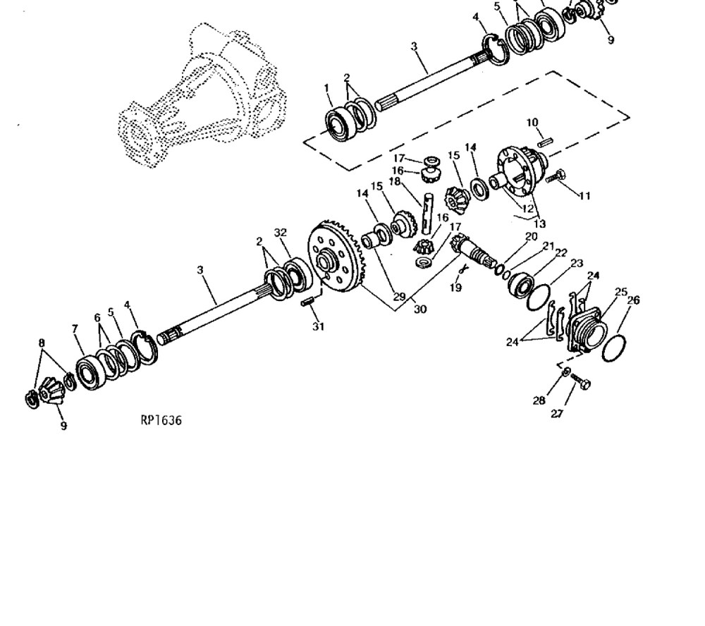 medium resolution of front axle pinion housing 4wd