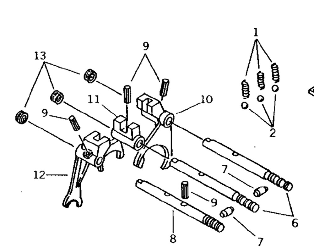 medium resolution of transmission parts for john deere compact tractors1st and 2nd shift fork